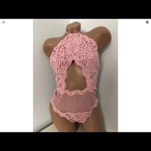 Victoria's Secret Cut Out Thong Teddy Lingerie